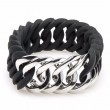 the Rubz Bracelet Black & Silver Circle 25mm S