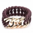 the Rubz Bracelet Burgundy & Rose Gold Circle 25mm S